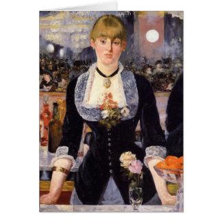 A Bar at Folies-Bergère Greeting Card