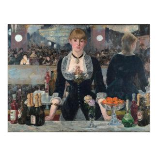 A Bar at the Folies-Bergère by Édouard Manet Postcard