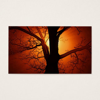 A  Bare Tree At Sunset Business Card