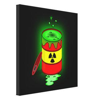 A Barrel of Toxic Waste. Canvas Prints