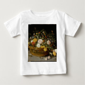 A Basket of Flowers - Jan Brueghel the Younger Baby T-Shirt