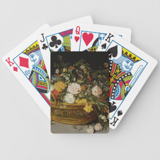A Basket of Flowers - Jan Brueghel the Younger Bicycle Playing Cards