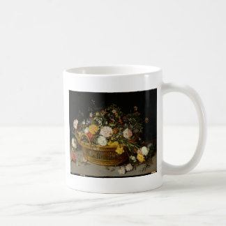 A Basket of Flowers - Jan Brueghel the Younger Coffee Mug