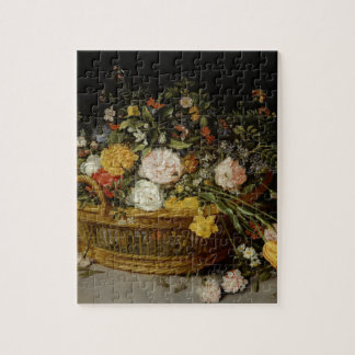 A Basket of Flowers - Jan Brueghel the Younger Jigsaw Puzzle