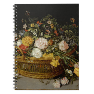 A Basket of Flowers - Jan Brueghel the Younger Notebooks