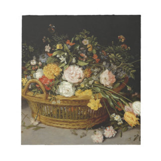 A Basket of Flowers - Jan Brueghel the Younger Notepad