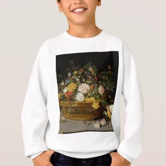 A Basket of Flowers - Jan Brueghel the Younger Sweatshirt