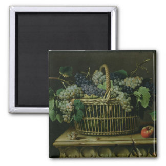 A Basket of Grapes Square Magnet