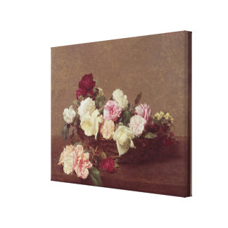A Basket of Roses, 1890 Canvas Print