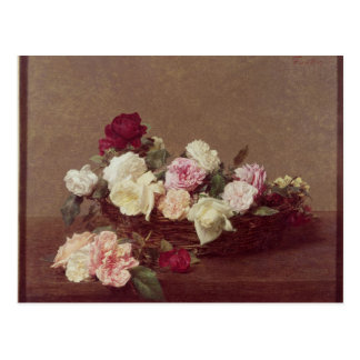 A Basket of Roses, 1890 Postcard