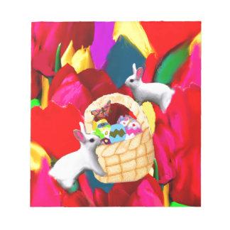 A basket plenty of amazing eggs celebrates season notepad