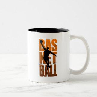 A Basketballer Jumping and Shooting Two-Tone Coffee Mug