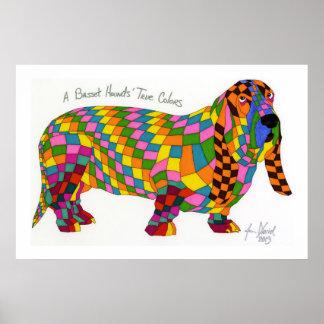 A Basset Hounds' True Colors, Basset Hound Poster