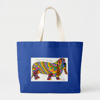 A Basset Hounds' True Colors Large Tote Bag