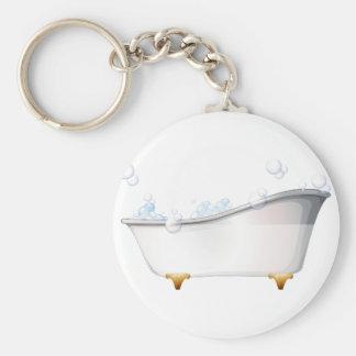 A bathtub key ring
