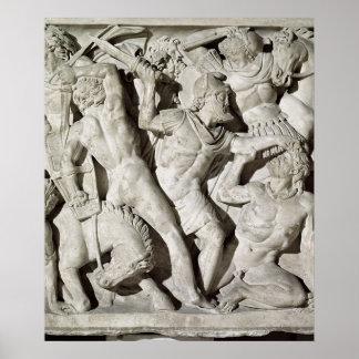 A battle between Romans and Galatians Poster