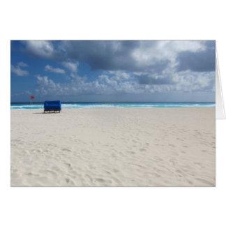A Beach Chair Awaits Card