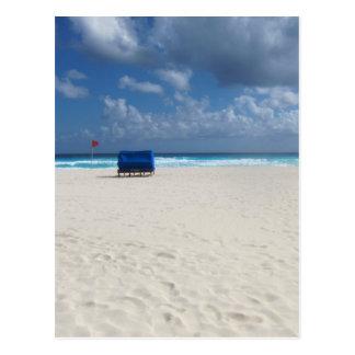 A Beach Chair Awaits Postcard