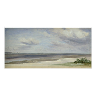 A Beach on the Baltic Sea at Laboe, 1842 Poster