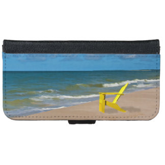 A Beach Somewhere and Beach Chair iPhone 6 Wallet Case