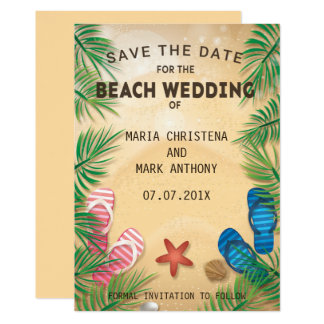 A Beach Wedding Save The Date Announcement