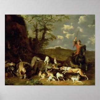 A Bear Hunt, 1655 Poster