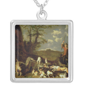 A Bear Hunt, 1655 Silver Plated Necklace
