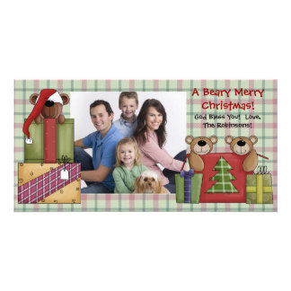 A Beary Merry Christmas Photo Cards