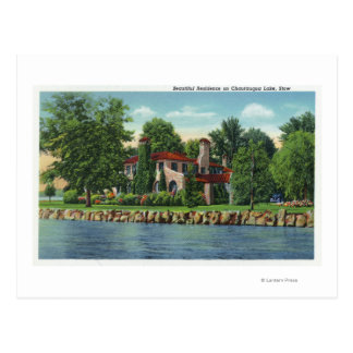 A Beautiful Chautauqua Lake Residence Postcard