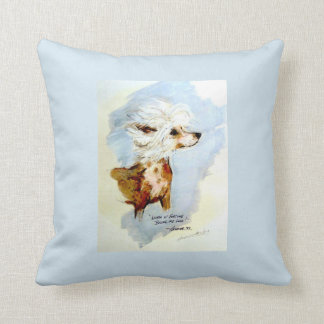 A beautiful Chinese Crested on the wind!!!!! Cushion