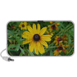 A beautiful close up of a yellow flower mp3 speakers