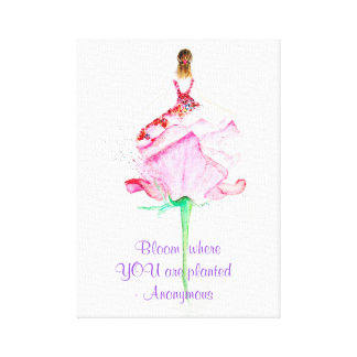 A beautiful Flowerpower Girl Painting Canvas Print