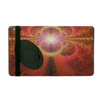 A Beautiful Fractal Burst of Liquid Sunset Colors iPad Cover