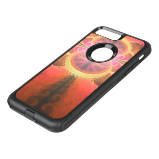 A Beautiful Fractal Burst of Liquid Sunset Colors OtterBox Commuter iPhone 8 Plus/7 Plus Case