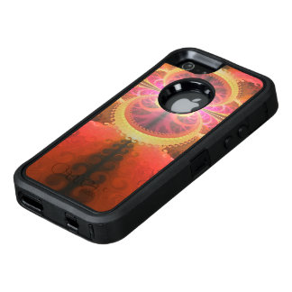 A Beautiful Fractal Burst of Liquid Sunset Colors OtterBox Defender iPhone Case