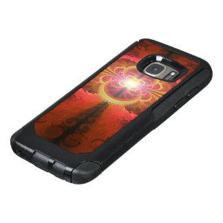 A Beautiful Fractal Burst of Liquid Sunset Colors OtterBox Samsung Galaxy S7 Case