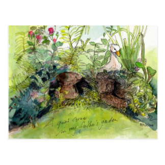 A beautiful garden postcard