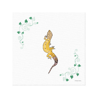 A Beautiful Gecko Canvas Print