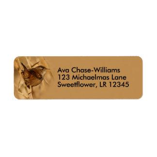 A Beautiful Marsh Wren in--Where Else?--the Marsh Return Address Label