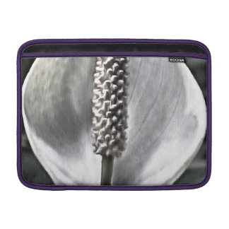 A beautiful Peace Lily MacBook Sleeve