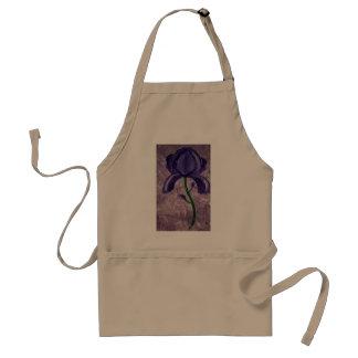 A beautiful purple flower standard apron