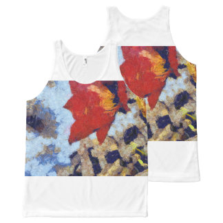 A beautiful red lily All-Over print singlet