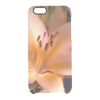 A - Beautiful Shaded Orange Lily Clear iPhone 6/6S Case