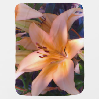 A beautiful shaded orange lily swaddle blankets