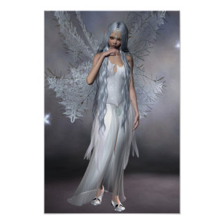 A Beautiful  Silver Frost Fairy Poster