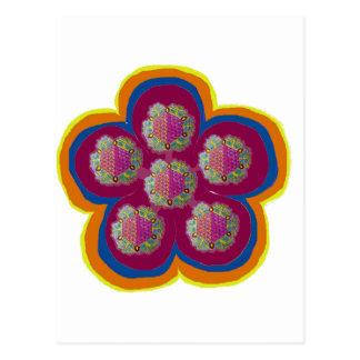 A beautiful single flower design postcard