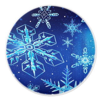 A Beautiful Snowstorm Ceramic Knob