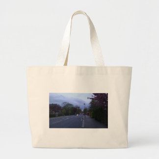 A beautiful street in Scotland at sunset Bag