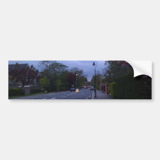 A beautiful street in Scotland at sunset Bumper Sticker