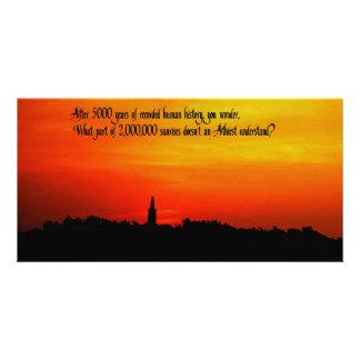 A  Beautiful sunrise Photo Card Template